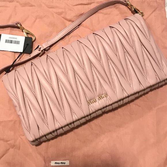 65ce9ab1c Miu Miu Bags | Authentic Pinknude Matelass Clutch Bag | Poshmark